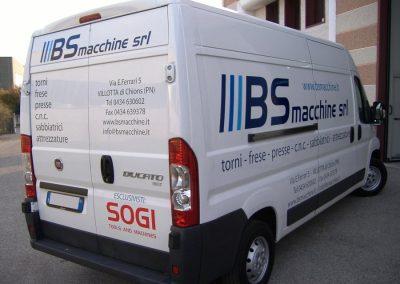 grafica adesiva furgone bs macchine