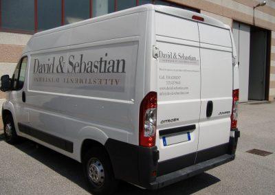grafica adesiva furgone david sebastian