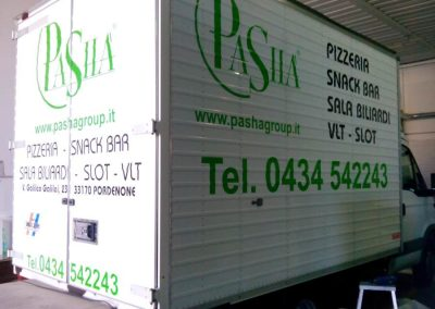 grafica adesiva furgone pasha