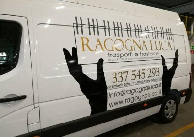 grafica adesiva furgone ragogna luca