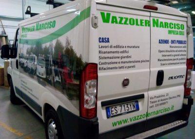 grafica adesiva furgone vazzoler narciso