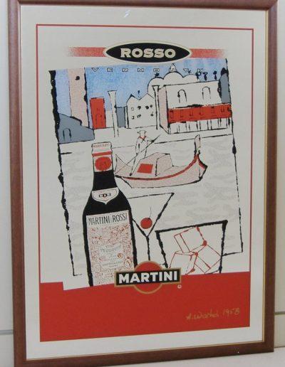 Specchi colorati Martini rosso